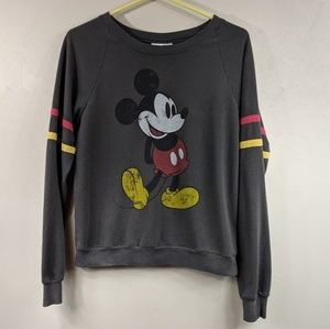 Vintage-look Disney Mickey Mouse Sweatshirt Size S